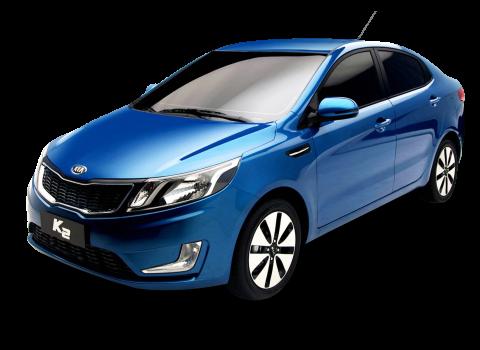 Blue Kia K2 Car PNG