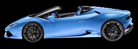 Blue Lamborghini Huracan LP 610 4 Spyder Car PNG
