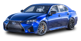 Blue Lexus GS F Car PNG
