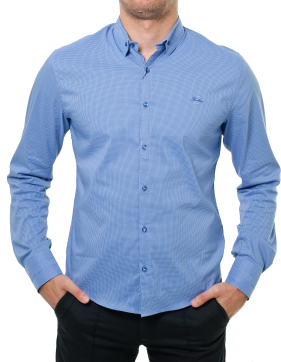 Blue Long Sleeve Shirt PNG