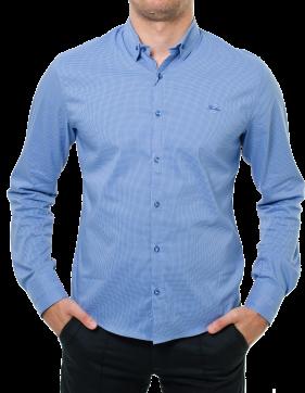 Blue Long Sleeve Shirt PNG