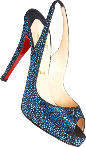 Blue Louboutin Lady Pumps PNG