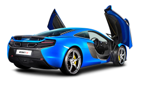Blue Mclaren 650s Car Back PNG