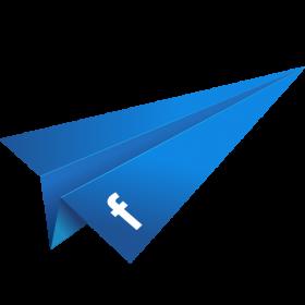 Blue Paper Plane PNG