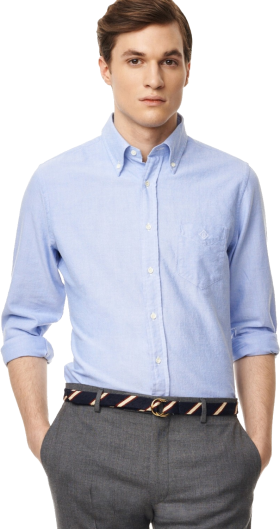 Blue Plain Full Sleeve Shirt PNG