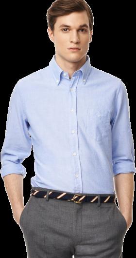 Blue Plain Full Sleeve Shirt PNG