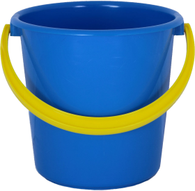 Blue PLastic Bucket PNG