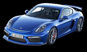 Blue Porsche Cayman GT4 Car PNG