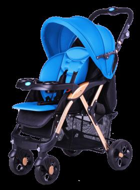 Blue Pram Baby PNG