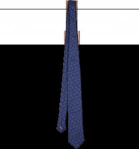 Blue Print Tie PNG