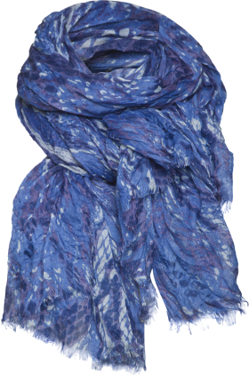 Blue Printer Scarf PNG