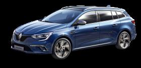 Blue Renault Megane Sport Tourer Car PNG
