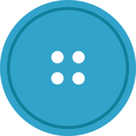 Blue Round Cloth Button With 2 Hole PNG