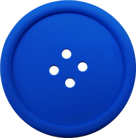 Blue Sewing Button With 4 Hole PNG