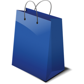 Blue Shopping Bag PNG