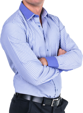Blue Strip Full Fit Shirt PNG