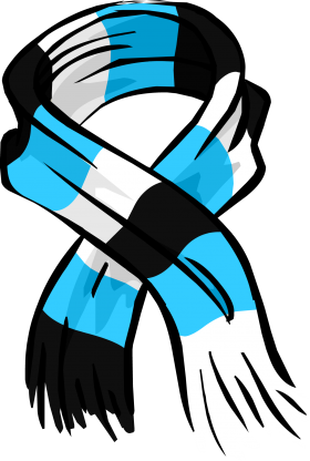 Blue Striped Scarf PNG
