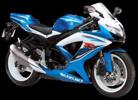 Blue Suzuki GSX R600 PNG
