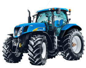 Blue Tractor PNG