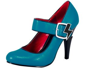 Blue Women Shoes PNG