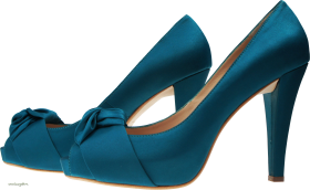 Blue Women Shoe PNG