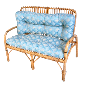Blue Wooden Sofa PNG