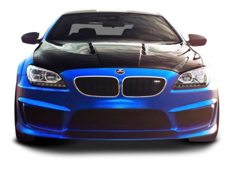 BMW M6 Blue Car PNG