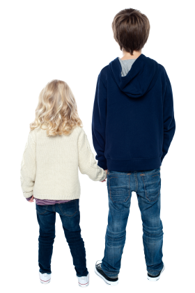 Boy and Girl PNG