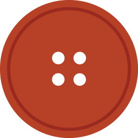 Bright Rediant Round Cloth Button With 4 Hole PNG