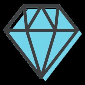 Brilliant Black Diamond PNG
