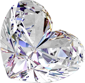 Brilliant Diamond Love Shaped PNG