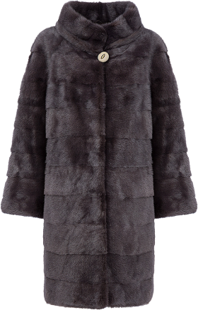 Broadtail Lamb Jacket with Sable Trim PNG