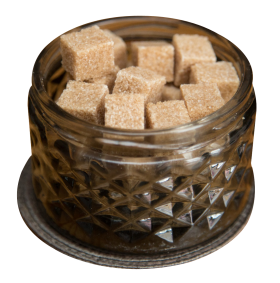 Brown Cane Sugar Cubes PNG