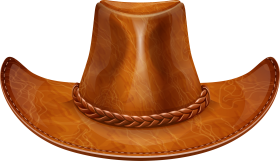 Brown Cow Boy Hat PNG
