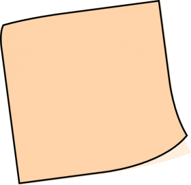 Brown Sticky Notes PNG