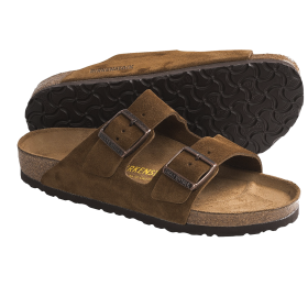 Brown Suede Sandal PNG