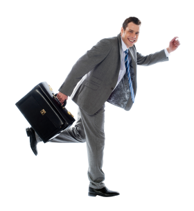 Businessman With Briefcase PNG
