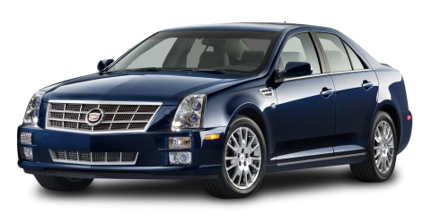 Cadillac STS Blue Car PNG