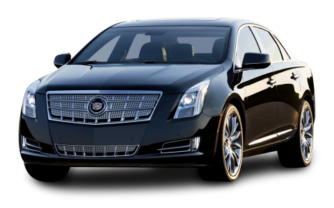 Cadillac XTS Black Car PNG