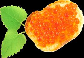 Caviar Toast PNG