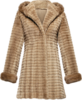 Central Parka Fur Coat PNG