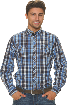 Check Full Dress Shirt PNG