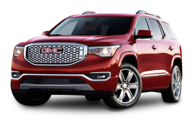 Cherry Red GMC Acadia Denali Car PNG