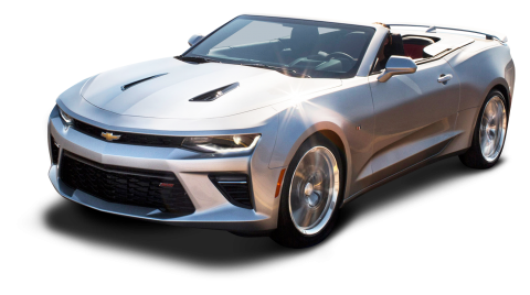 Chevrolet Camaro Convertible Silver Car PNG