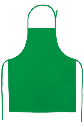 Child's Apron Small Kelly Green PNG