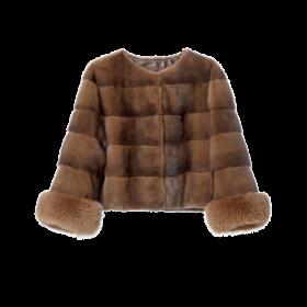 Chloe Sudan Front Fur Coat PNG