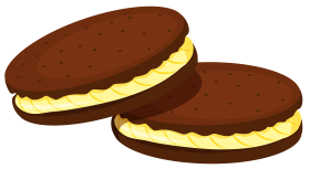 Chocolate Cookies with filling Clipart PNG