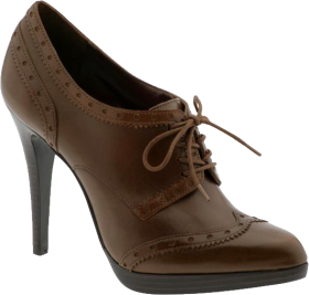 Chocolate Women Shoe PNG