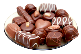 Chocolates in Plate PNG