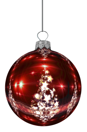 Shiny Christmas Bauble  PNG